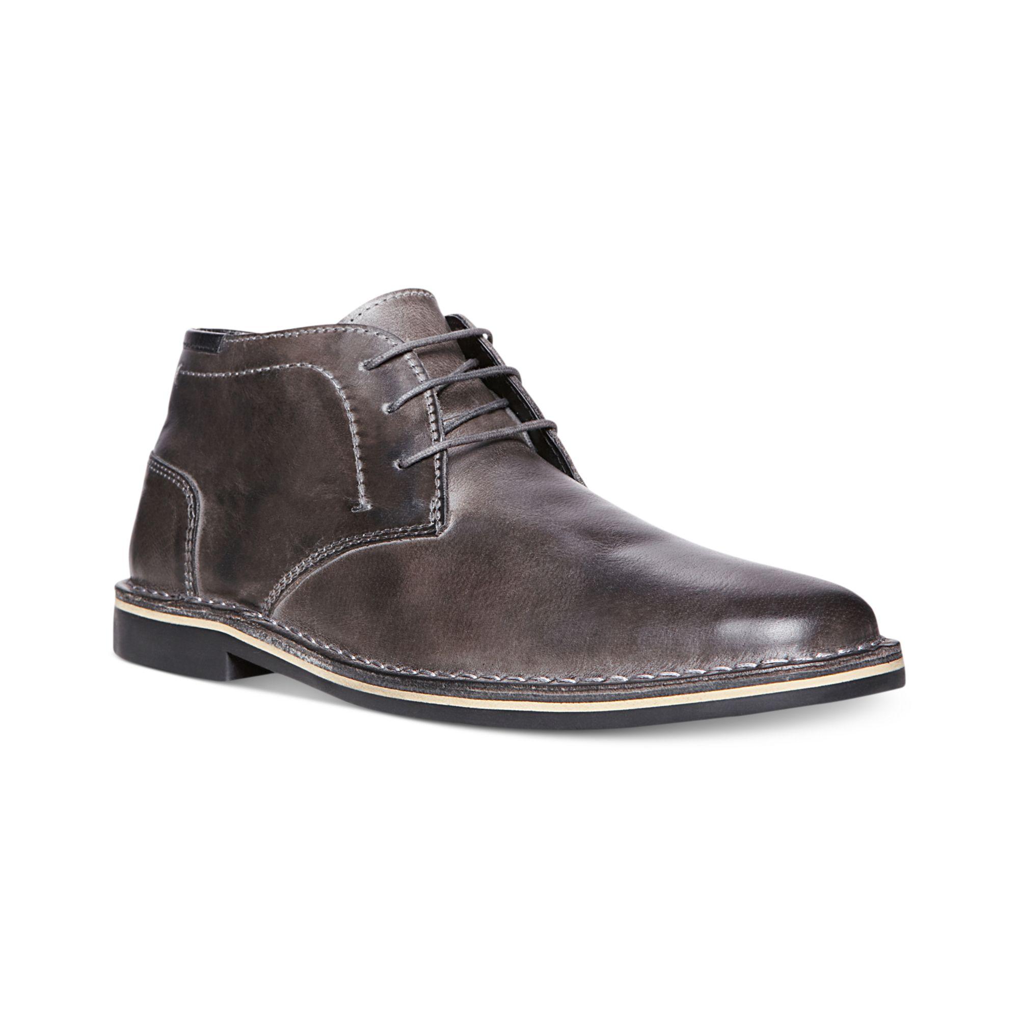 steve madden harken chukka boots in gray for grey lyst