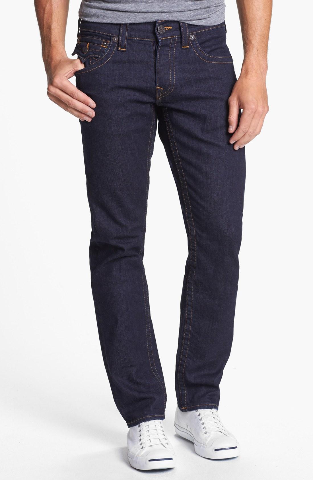 true religion jack slim fit jeans in blue for men. Black Bedroom Furniture Sets. Home Design Ideas