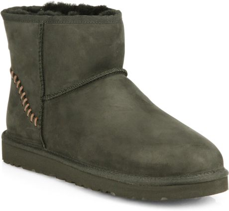 green ugg boots classic short