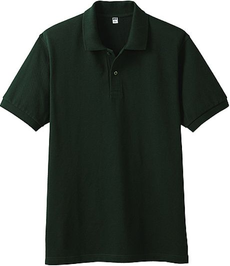 Uniqlo Pique Polo Shirt In Green For Men Dark Green Lyst