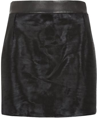 Alexander Wang Pony Skin Mini Skirt - Lyst