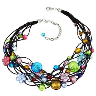 Antica Murrina Cancun Murano Glass Beads Flowers