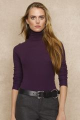 Blue Label Ribbed Turtleneck - Lyst