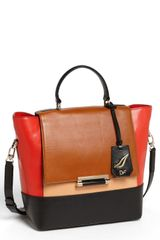 Diane Von Furstenberg 440 Small Leather Satchel - Lyst