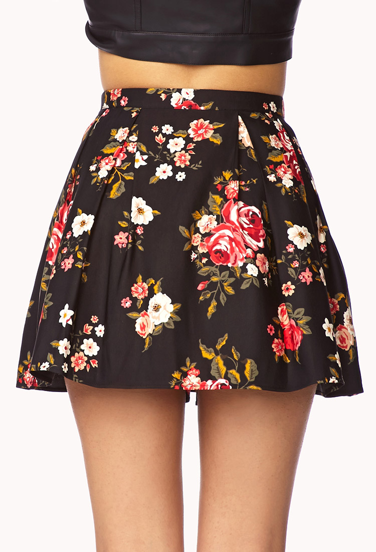 4a5ee6b7d3 Forever 21 Fancy Floral Box Pleated Skirt - Lyst