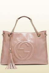 Gucci Soho Patent Leather Tote - Lyst