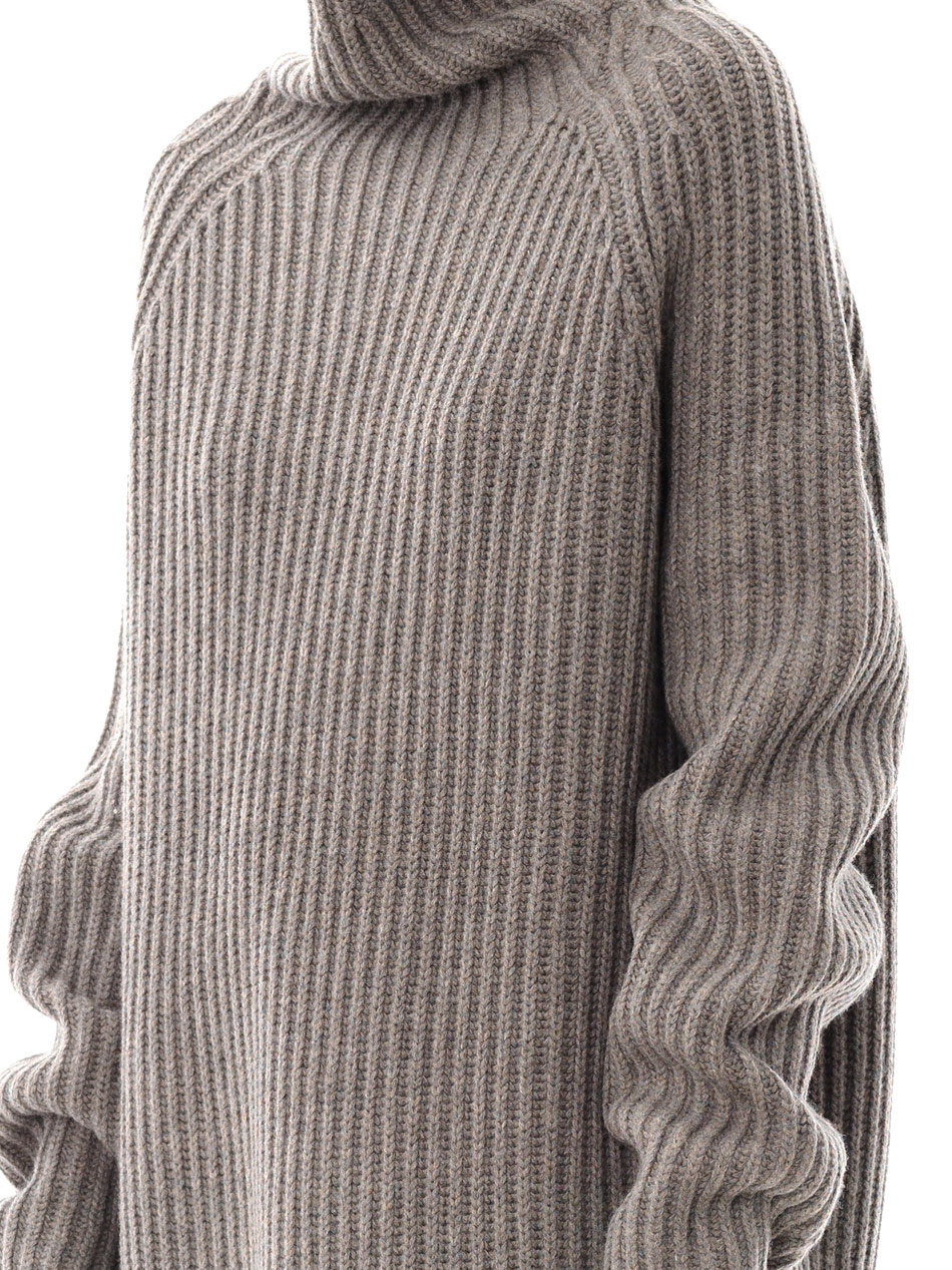 Haider ackermann Oversized Wool Sweater in Gray | Lyst