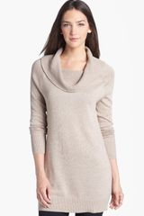 Halogen Cowl Neck Tunic Sweater - Lyst