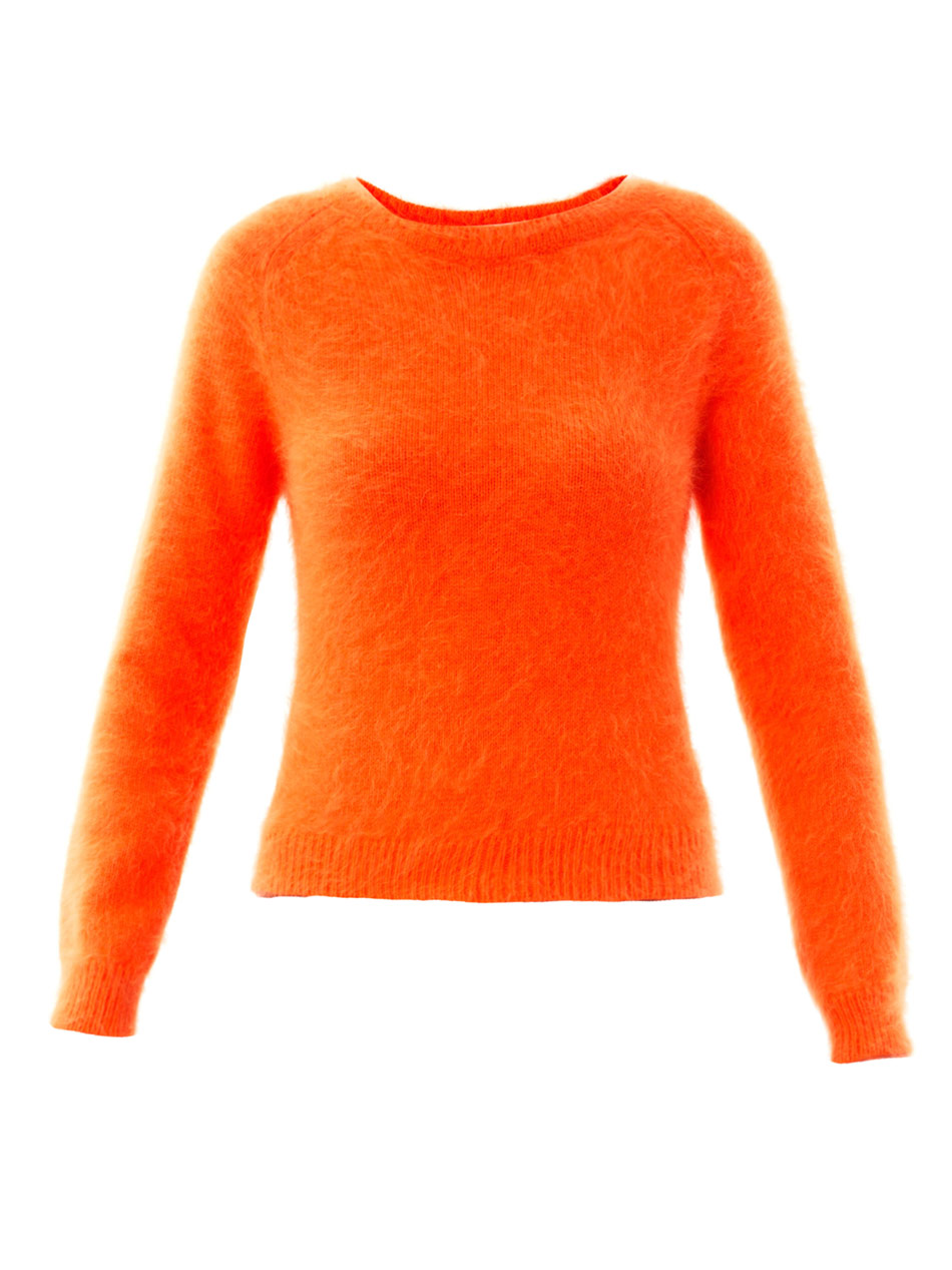 J.w.anderson Banded Angora Sweater in Orange | Lyst