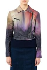 Mary Katrantzou Versicolour Leather Biker Jacket - Lyst