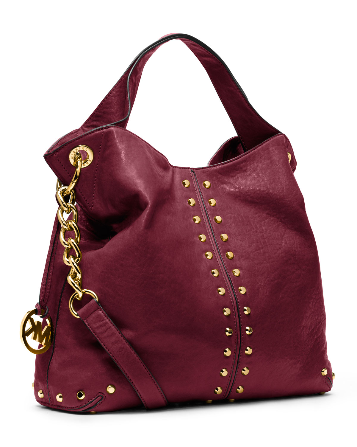 53a0e67a9ce1 Lyst - MICHAEL Michael Kors Large Uptown Astor Shoulder Bag in Red
