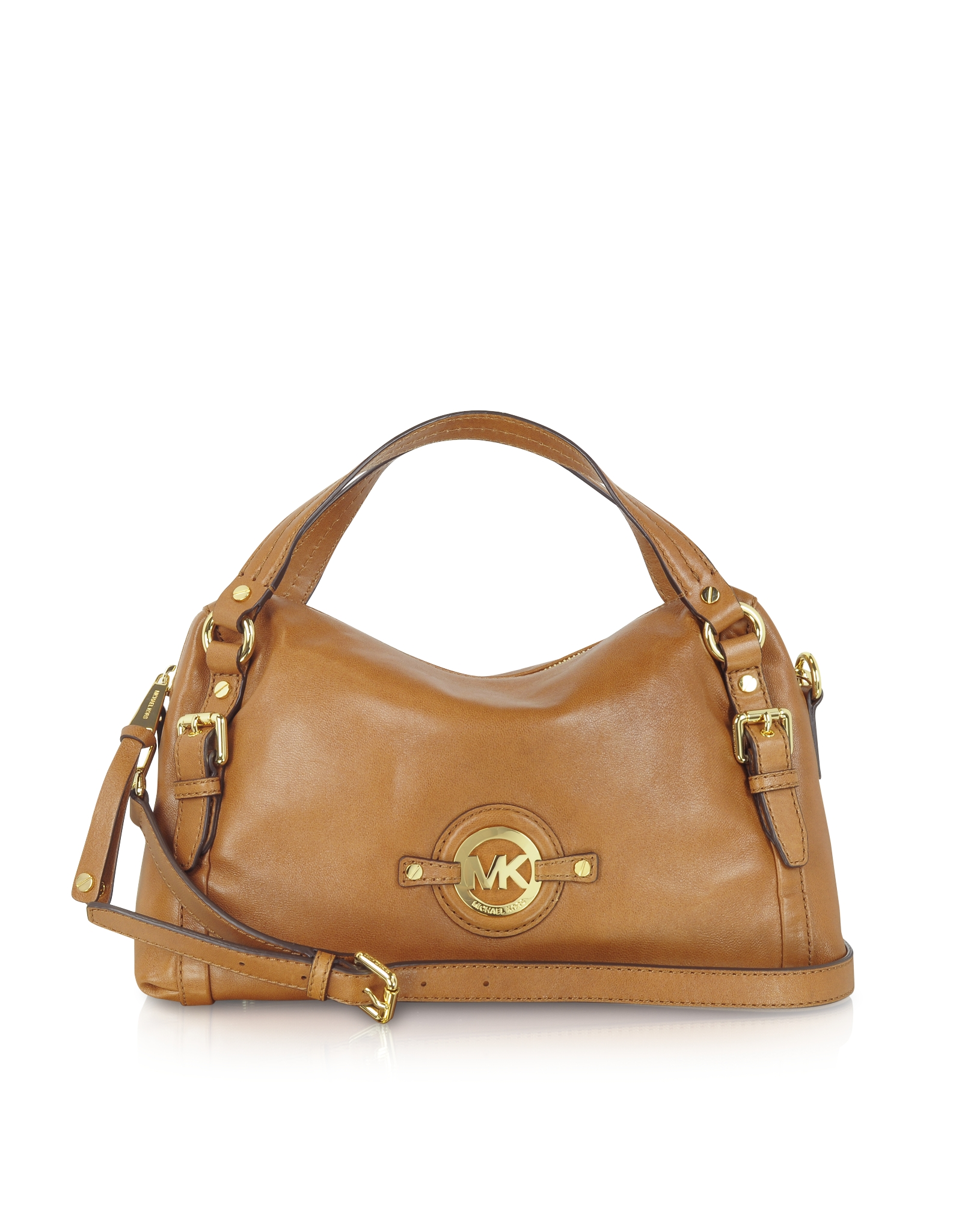 16a0f255136f ... official store lyst michael kors medium stockard shoulder satchel in  brown 6078e 364e7