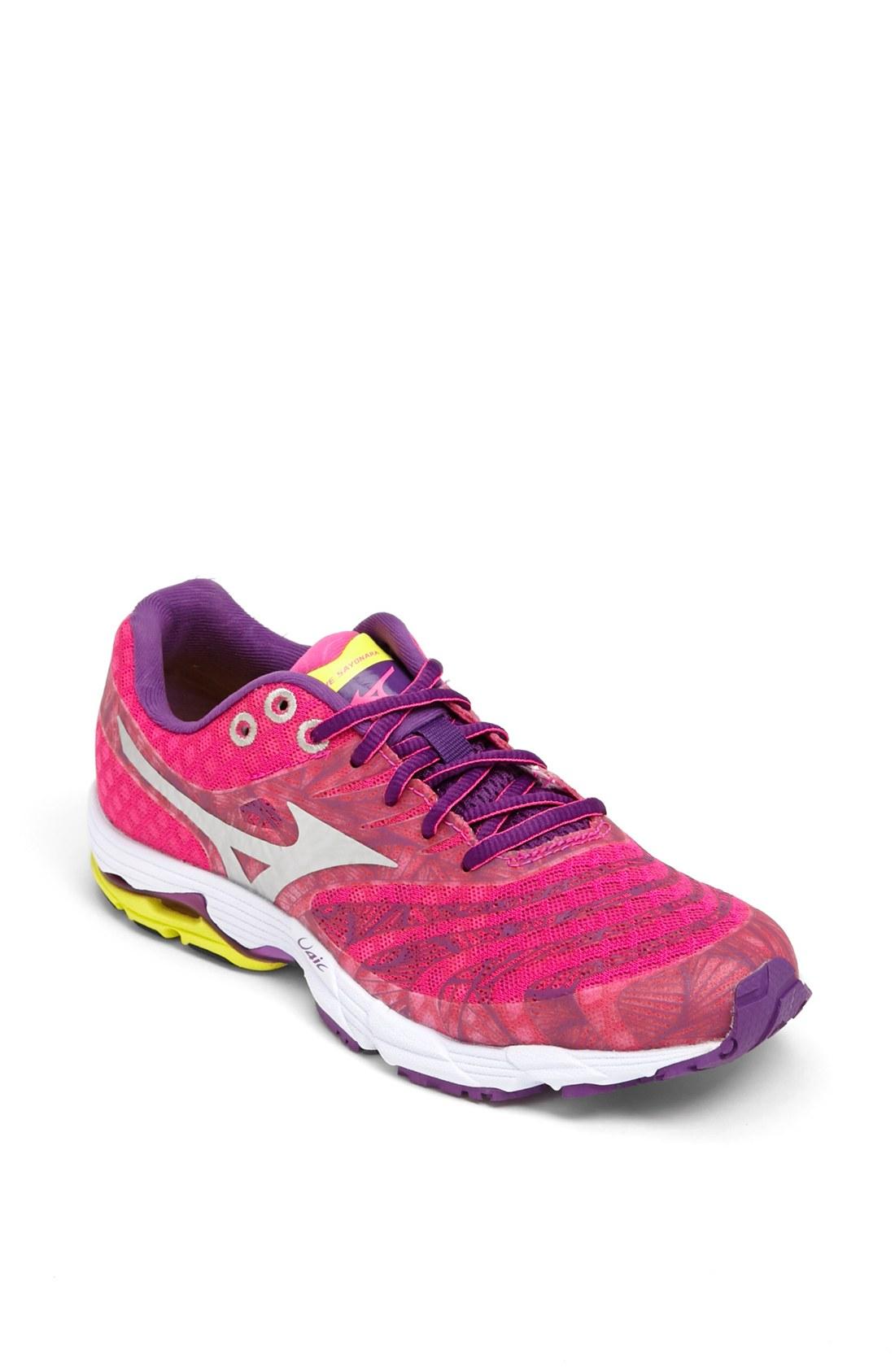 Mizuno Wave Sayonara Running Shoe in Pink (Pink/ Purple/ Silver