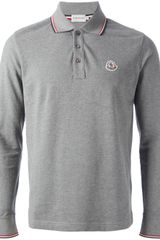 Moncler Long Sleeved Polo Shirt - Lyst