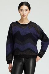 Opening Ceremony Goddess Striped Jacquard Sweater - Lyst