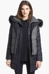 Soia & Kyo 6in1 Reversible Quilted Jacket Vest with Genuine Fox Fur Trim - Lyst