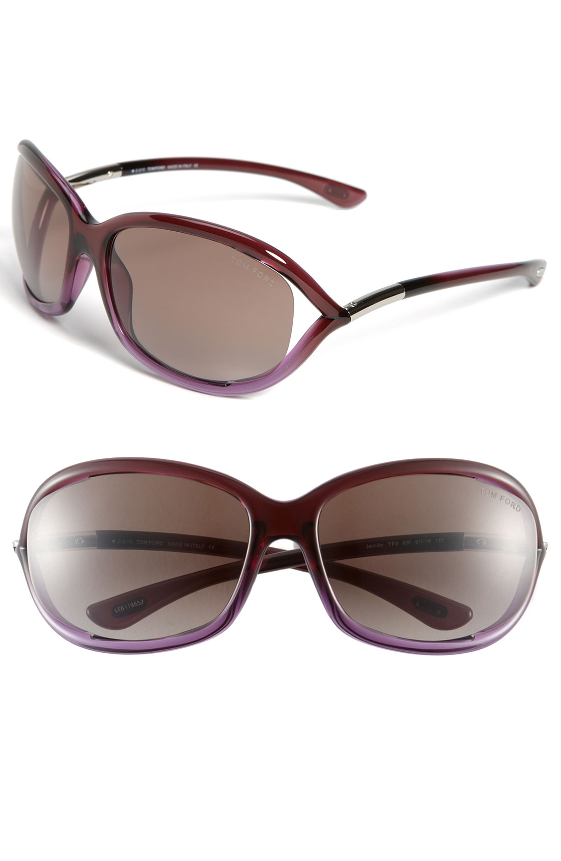 tom ford jennifer 61mm oval frame sunglasses in brown violet brown. Cars Review. Best American Auto & Cars Review