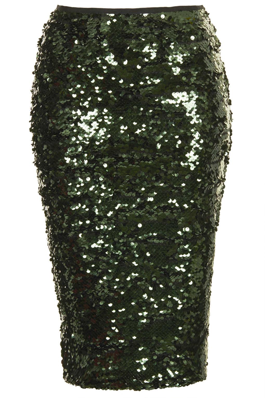 Green Sequin Skirt 55