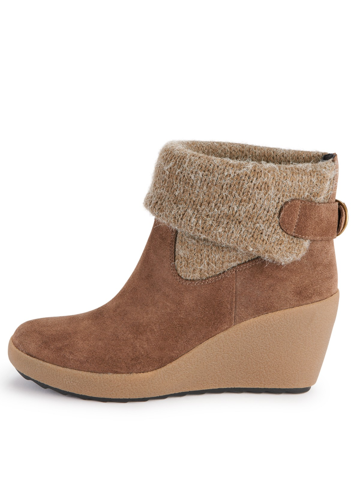 clarks clarks sound wedge ankle boot in brown