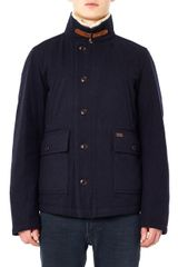 Woolrich Mono Lake Shearling-collar Coat - Lyst