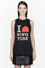 3.1 Phillip Lim Black Nueva Tank Top - Lyst