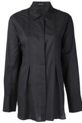Ann Demeulemeester Pointed Collar Shirt - Lyst