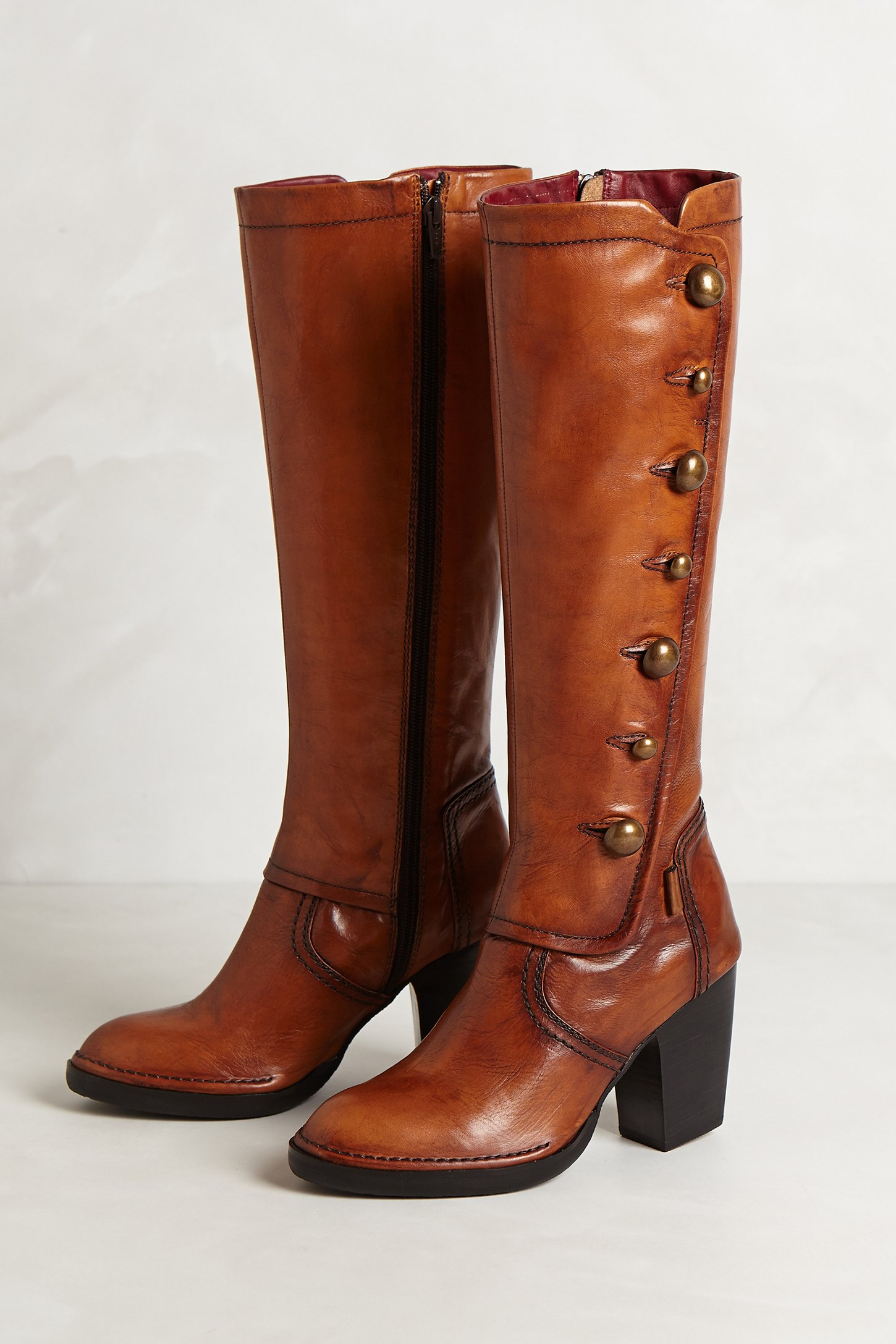 Anthropologie Heath Button Boots In Brown Lyst