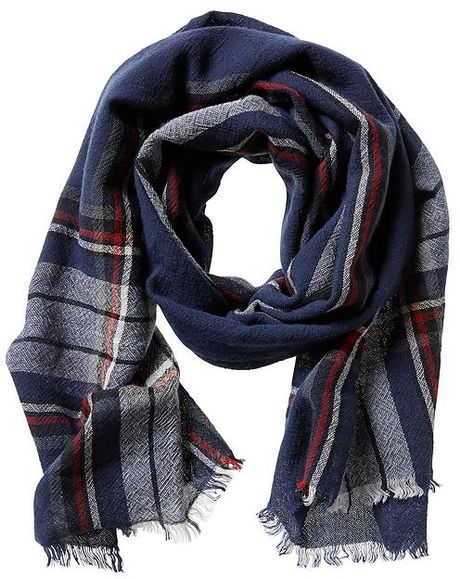 Banana Republic Heritage Plaid Wool Scarf in Multicolor for Men (Navy ...