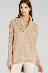 BCBGMAXAZRIA Sweater Linden Cable Knit - Lyst