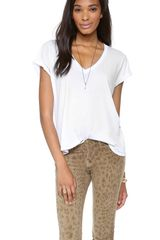 Current/Elliott The V Neck Tee - Lyst