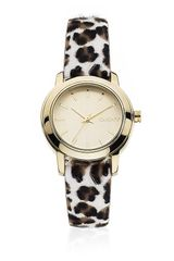 DKNY Leopard Calf Hair Leather Watch - Lyst