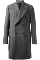 Dolce & Gabbana Double Breasted Coat - Lyst