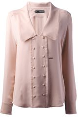 DSquared2 Double-breasted Silk Blouse - Lyst
