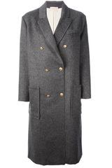 Forte Forte Double Breasted Coat - Lyst