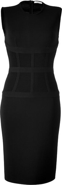 Givenchy Black Knitted Shift Dress In Black Lyst