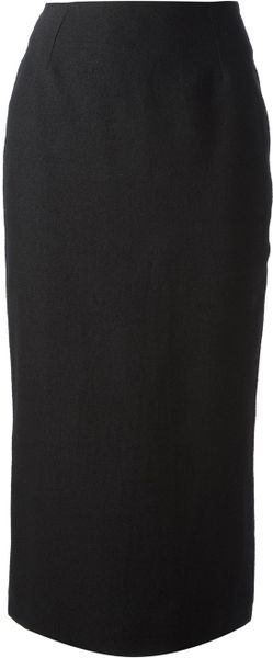 Haider Ackermann Pencil Skirt in Black - Lyst