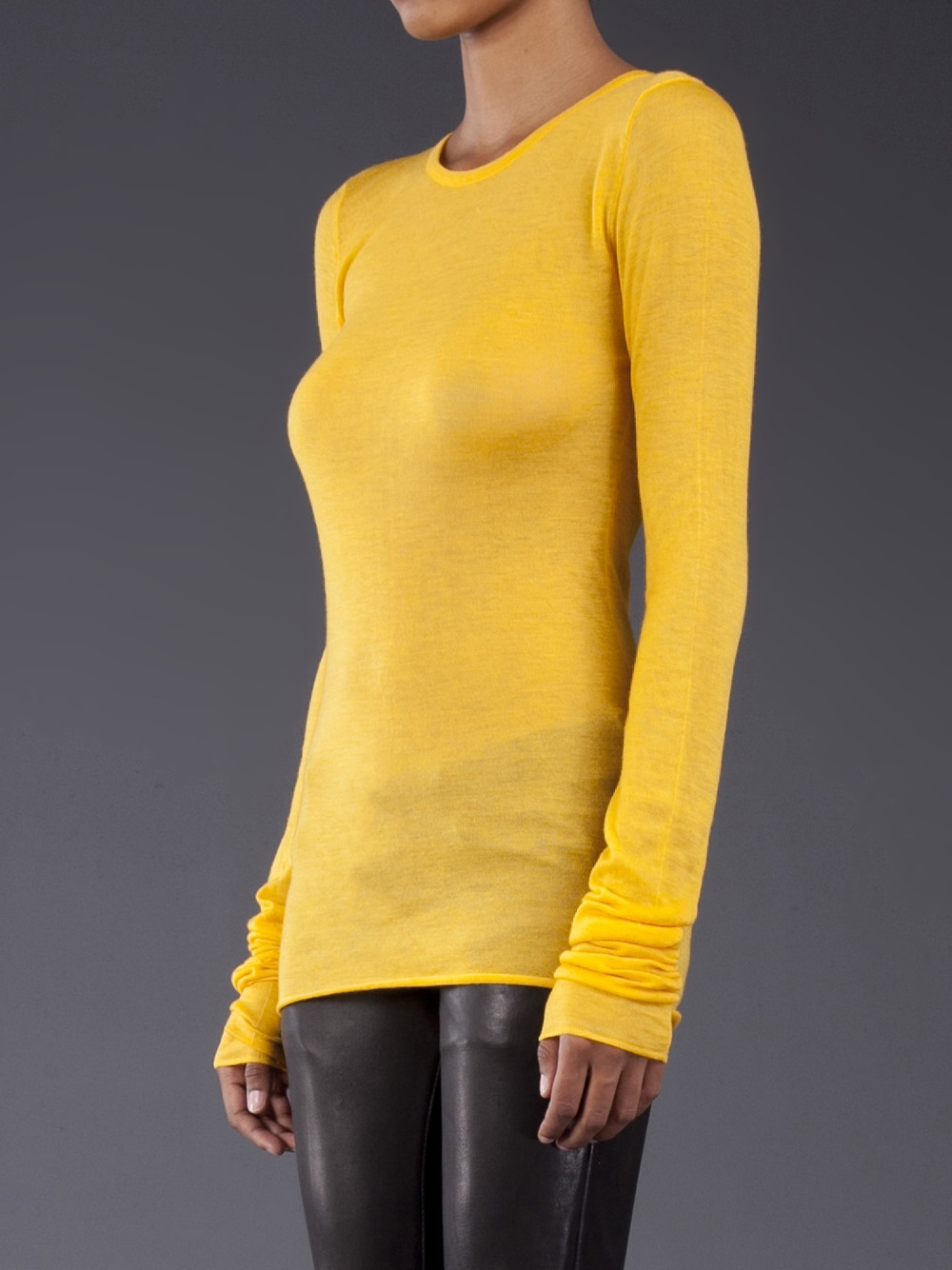 Jean colonna Cashmere Sweater in Yellow | Lyst