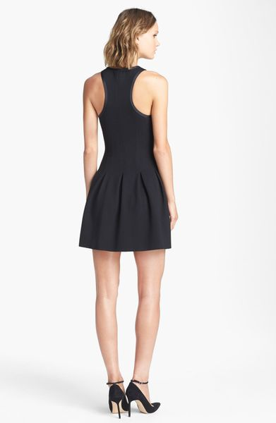 Juicy Couture Charlotte Fit Flare Dress In Black Pitch
