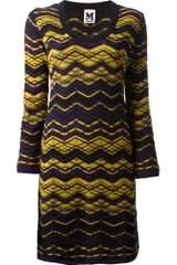 M Missoni Zigzag Knit Dress - Lyst