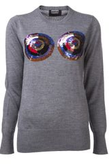 Markus Lupfer Sequin Circles Sweater - Lyst
