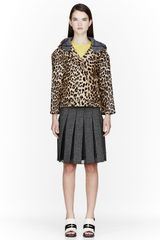 Marni Tan Calf-hair Leopard Print Jacket - Lyst