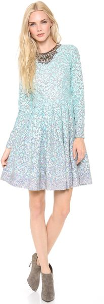 Matthew Williamson Box Pleat Embroidered Dress - Lyst
