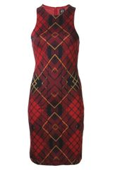 McQ by Alexander McQueen Tartan Print Fitted Dress - Lyst