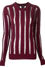 McQ by Alexander McQueen Striped Sweater - Lyst