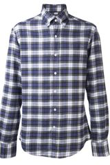 Michael Bastian Plaid Flannel Shirt - Lyst