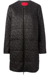 Moncler Gamme Rouge Collarless Coat - Lyst