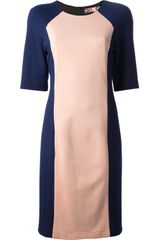 MSGM Two Tone Shift Dress - Lyst
