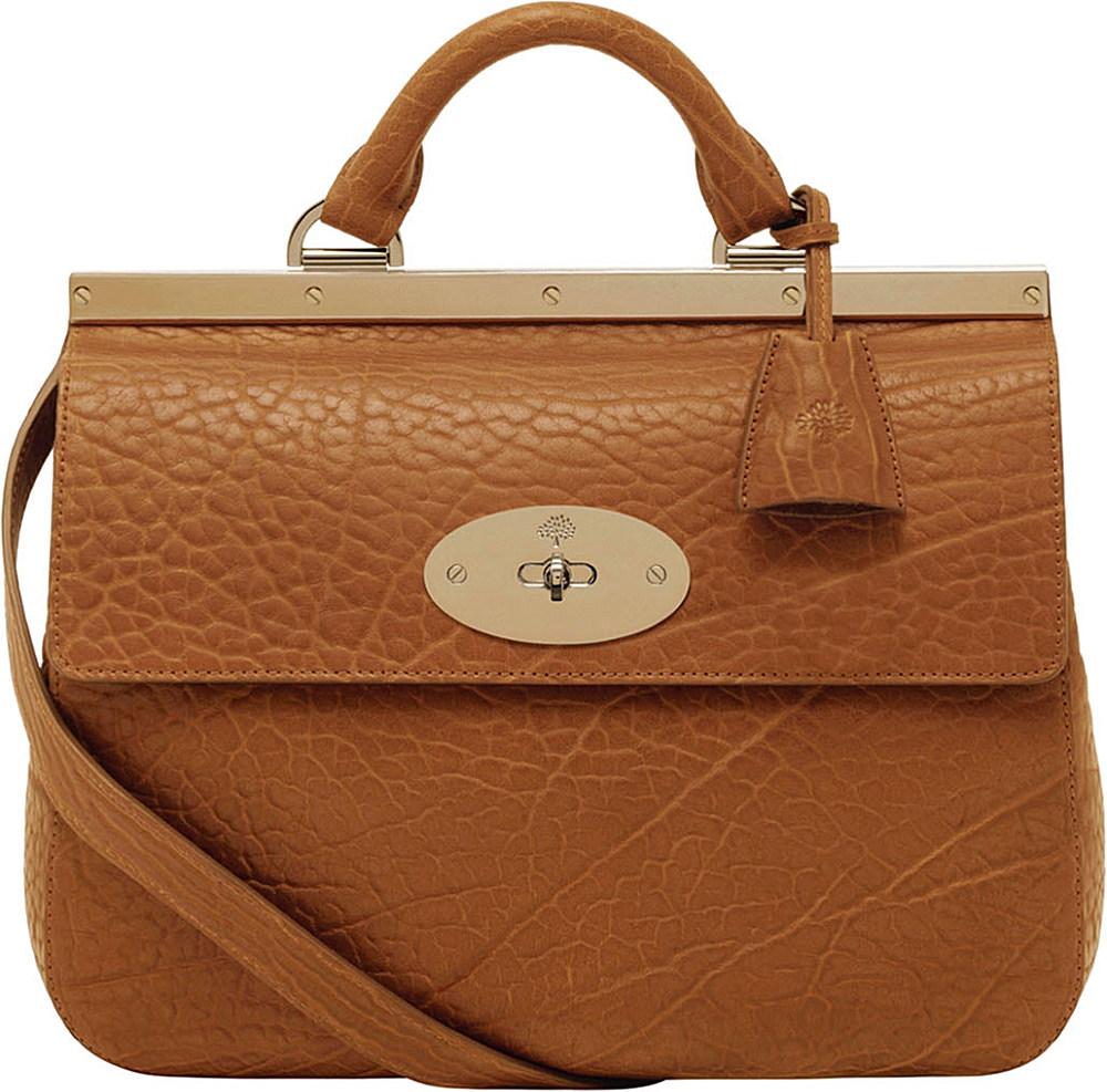 936fdd077f90 Mulberry Suffolk Small Shrunken Calf Leather Bag in Brown - Lyst
