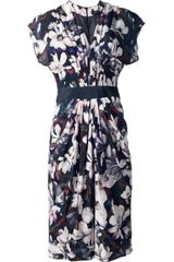 Paul Smith Black Label Flower Print Dress - Lyst