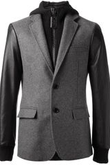Philipp Plein Hooded Blazer - Lyst
